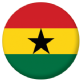 Ghana Country Flag 58mm Button Badge